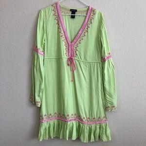 Moda International Boho Dress With Embroidery
